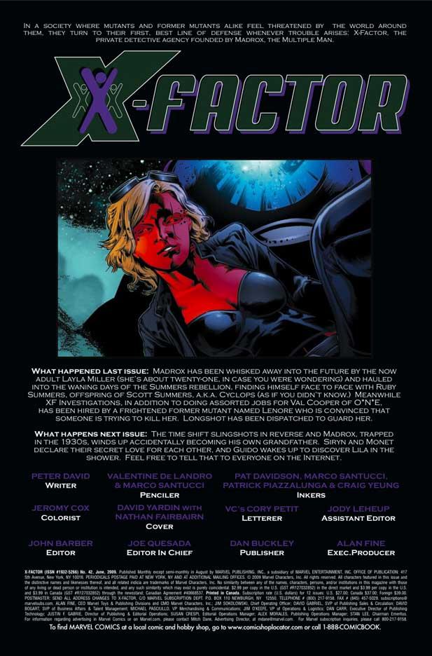 X-Factor # 42 (preview) --> X-Factor # 191 Xfactor421