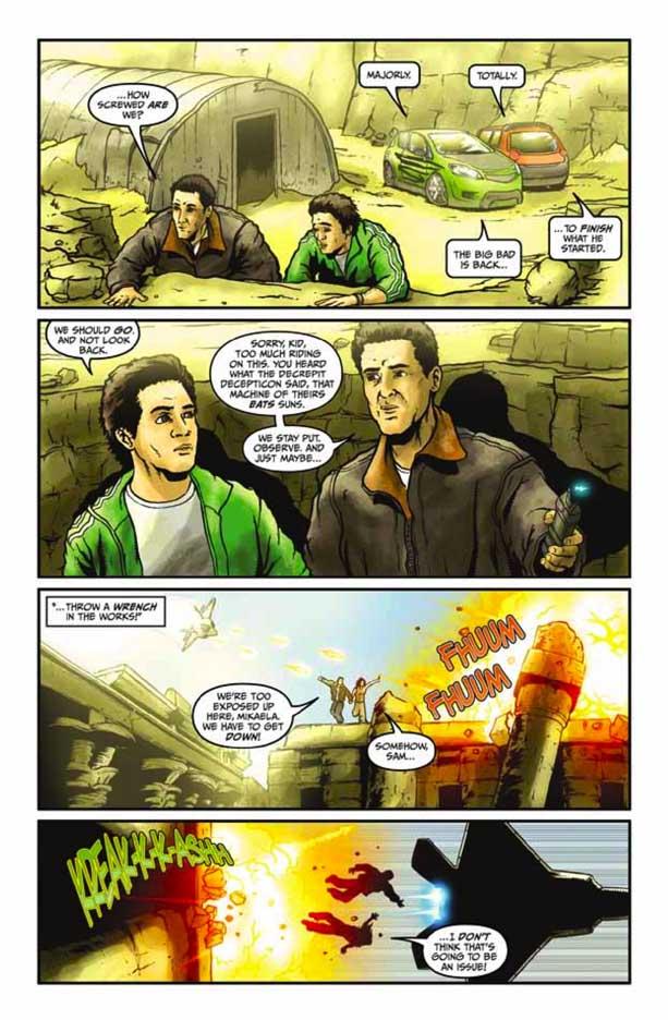 Preview Transformers Revenge Of The Fallen Comic Adaptation #4 Transformersrevenge42