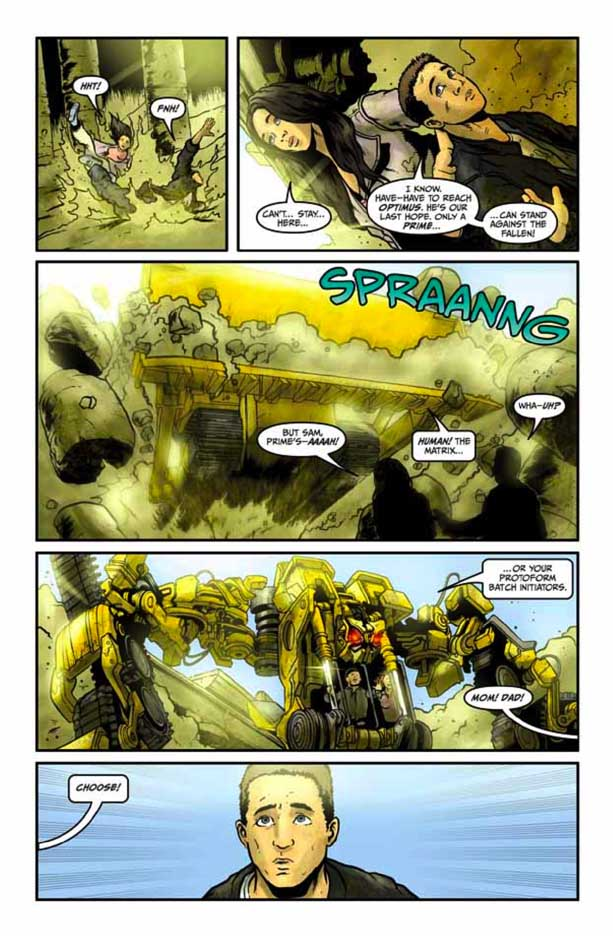 Preview Transformers Revenge Of The Fallen Comic Adaptation #4 Transformersrevenge43