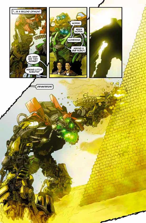 Preview Transformers Revenge Of The Fallen Comic Adaptation #4 Transformersrevenge45