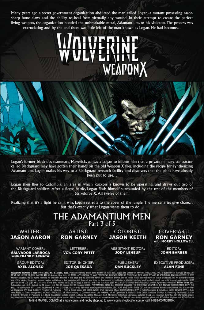 Wolverine: Weapon X #1-5 (Cover) - Page 3 Wolverineweaponx31