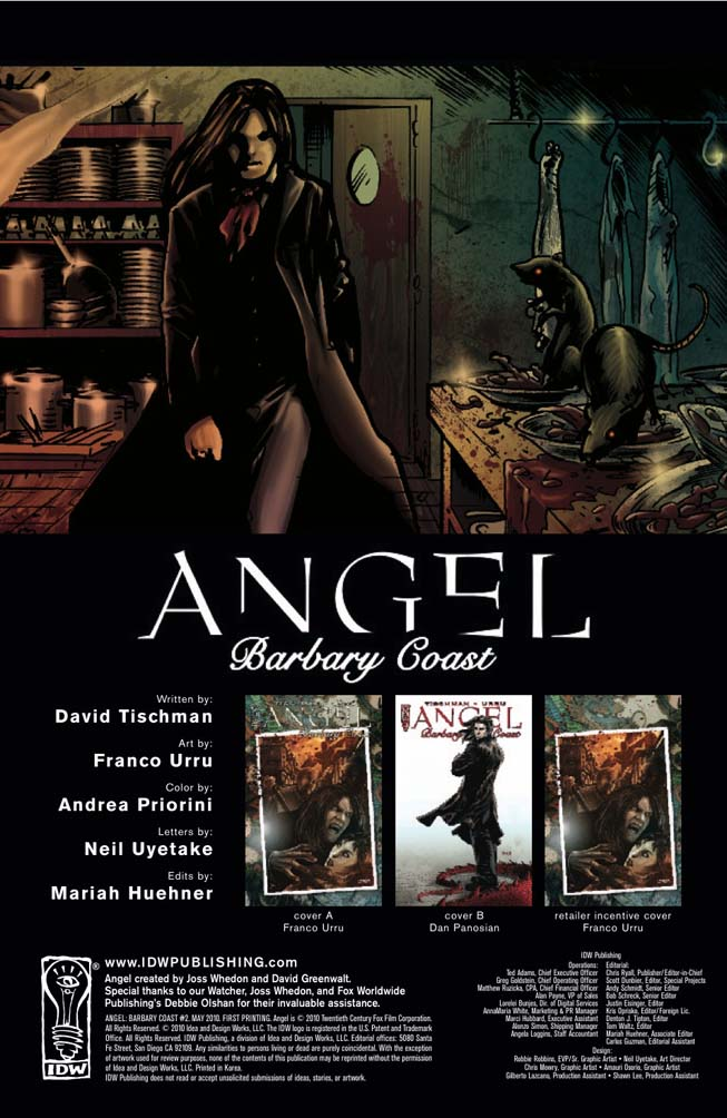 Angel : The Barbary Coast Angelbarbary21