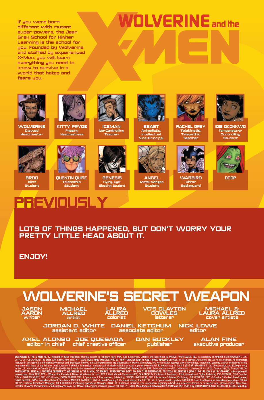 Wolverine & the x-men # 17 Wolverinexmen173