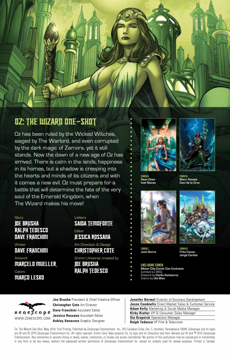COMICS CONTINUUM / Zenescope Entertainment First Looks: Oz: The Wizard