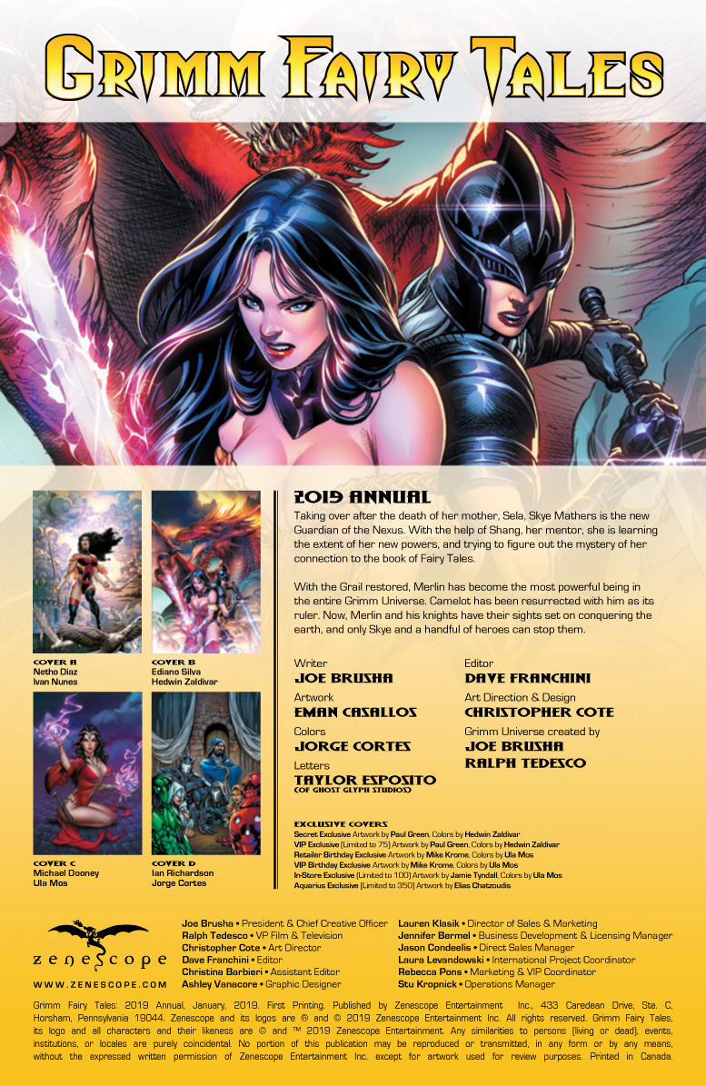 COMICS CONTINUUM / Zenescope Entertainment First Looks: Grimm Fairy