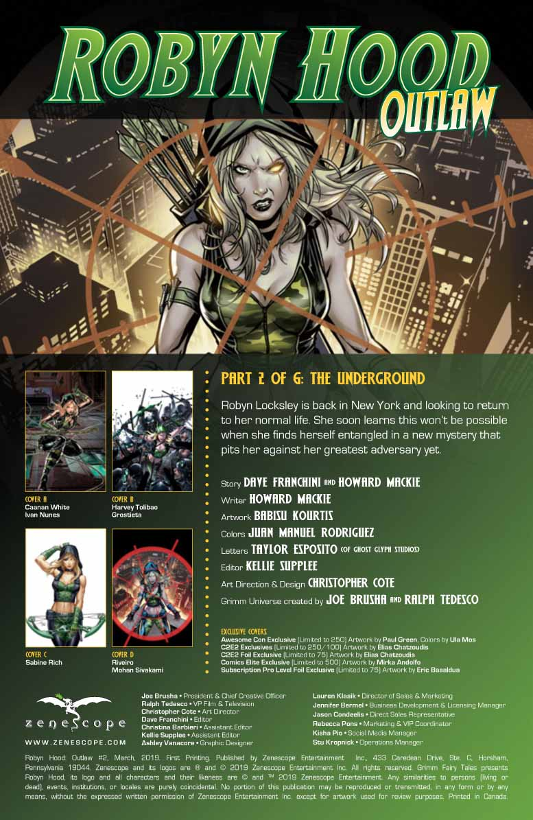 COMICS CONTINUUM / Zenescope Entertainment First Looks: Robyn Hood
